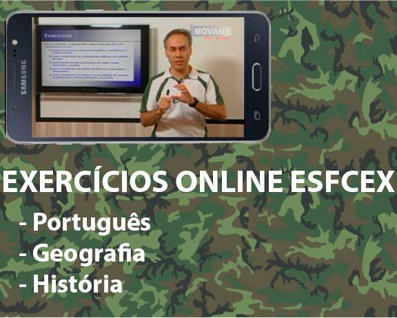 Exercícios em vídeo EsFCEx  - MOVAME CURSOS EDUCACIONAIS