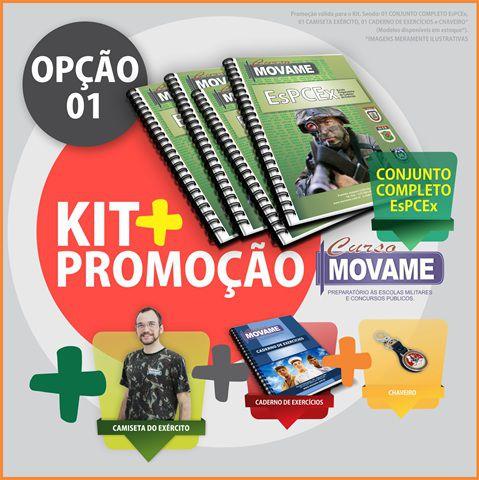 Kit 01 Conjunto EsPCEx  - MOVAME CURSOS EDUCACIONAIS