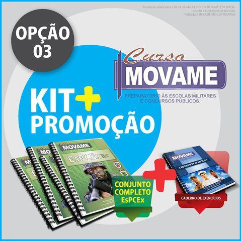 !Kit 03 Conjunto EsPCEx  - MOVAME CURSOS EDUCACIONAIS