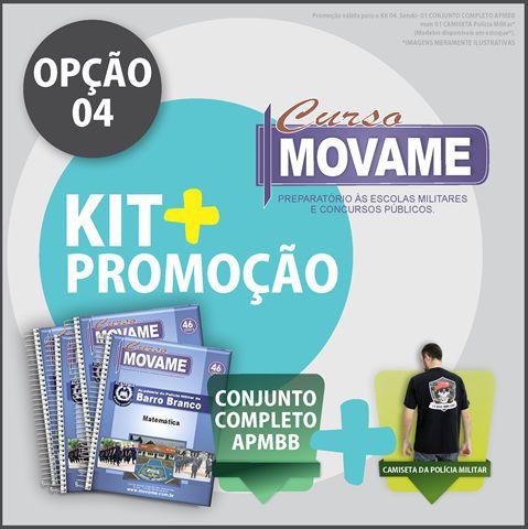 Kit 04 Conjunto Academia Barro Branco  - MOVAME CURSOS EDUCACIONAIS