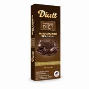 Chocolate Diet Meio Amargo 50% cacau Sem Adição de Açúcar 20g - Diatt