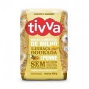 Macarrão sem Glúten de Milho Penne com Linhaça Dourada 500g - Tivva