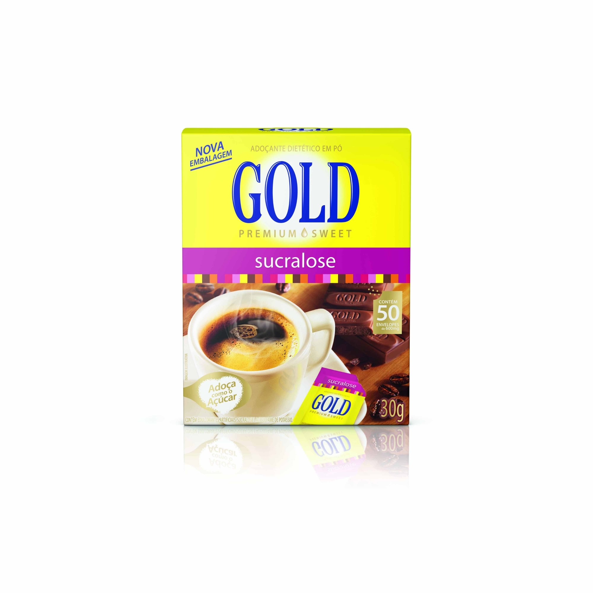 Adoçante Gold Sucralose  Sachê 0,6g x 50 - Tal e Qual