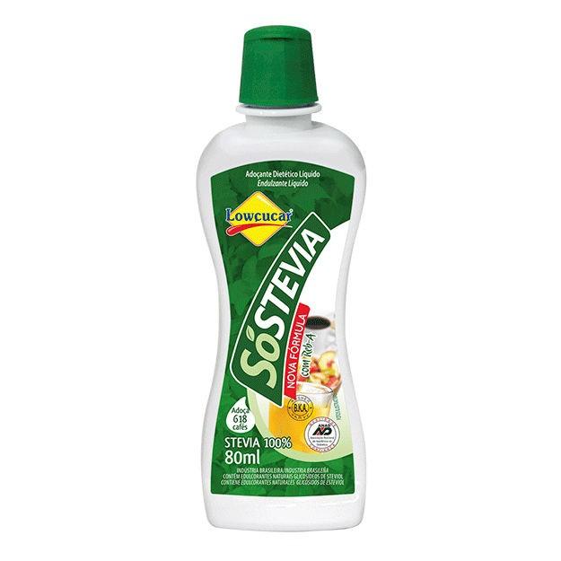 Adoçante só Stevia 80ml - Lowçucar