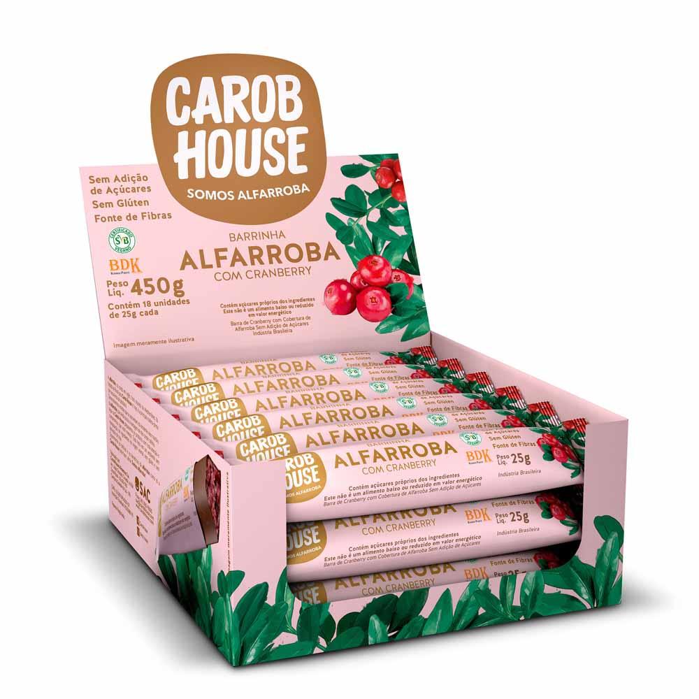 Alfarroba com Cranberry Sem Açúcar 25g x 20 - Carob House