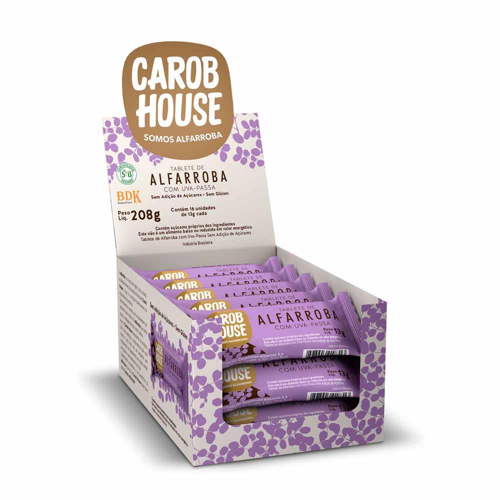 Alfarroba com Uva Passa Sem Açúcar 13g x 20 - Carob House