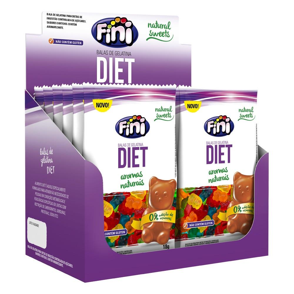 Bala de Gelatina Diet 18g x 12 216g - Fini