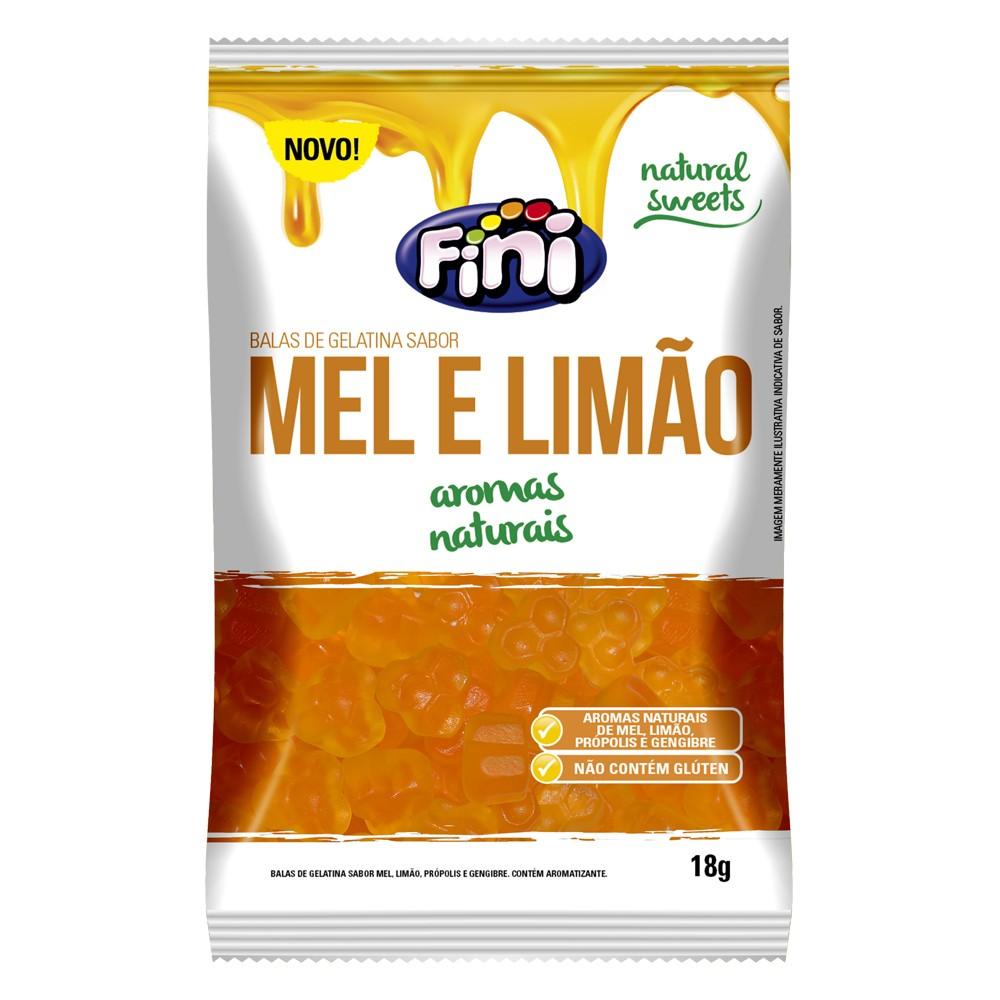 Bala de Gelatina Mel e Limão 18g - Fini
