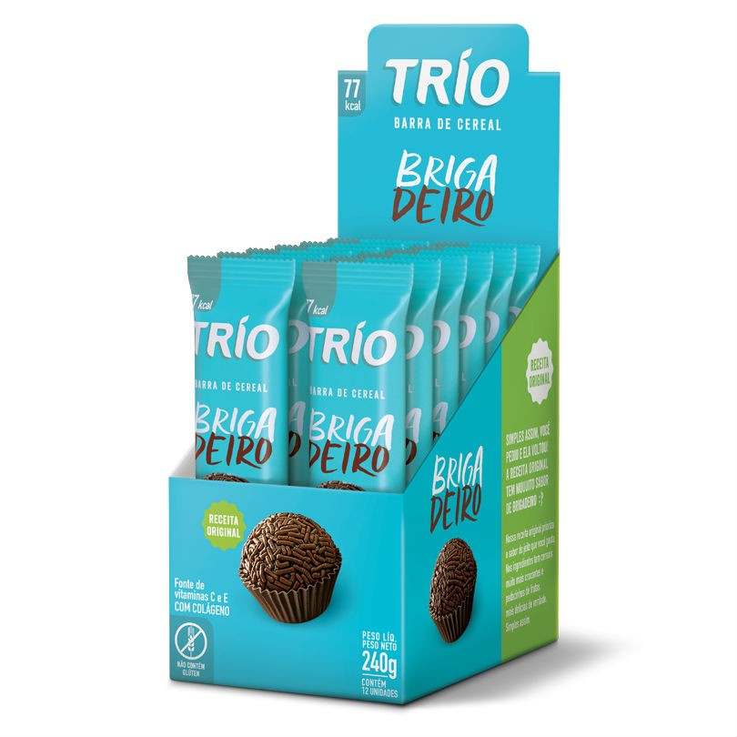 Barra de Cereal Brigadeiro Display 240g - Trio
