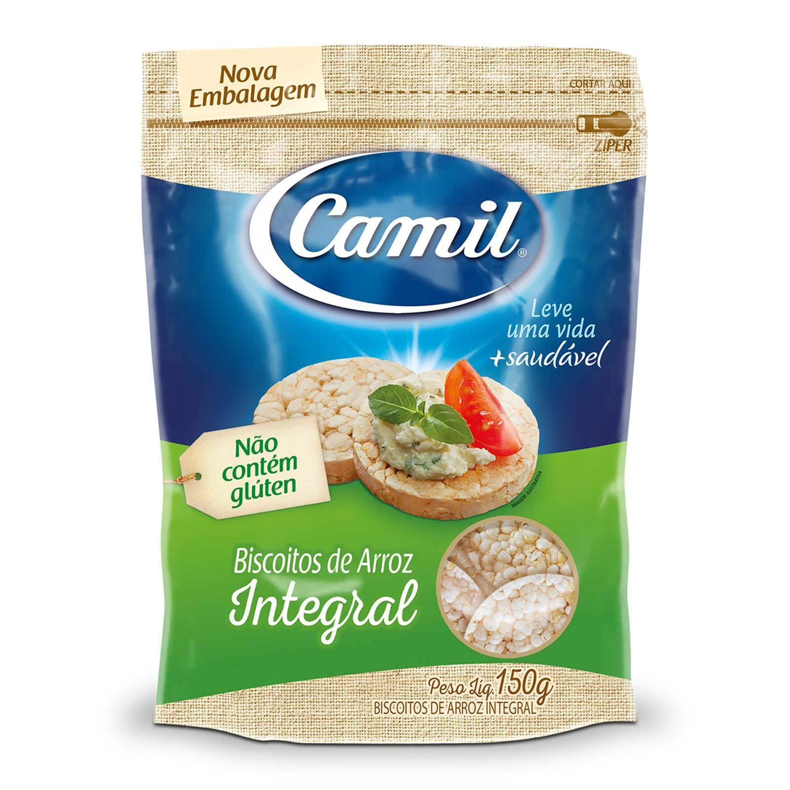Biscoito de Arroz Integral Sem Glúten 150g - Camil