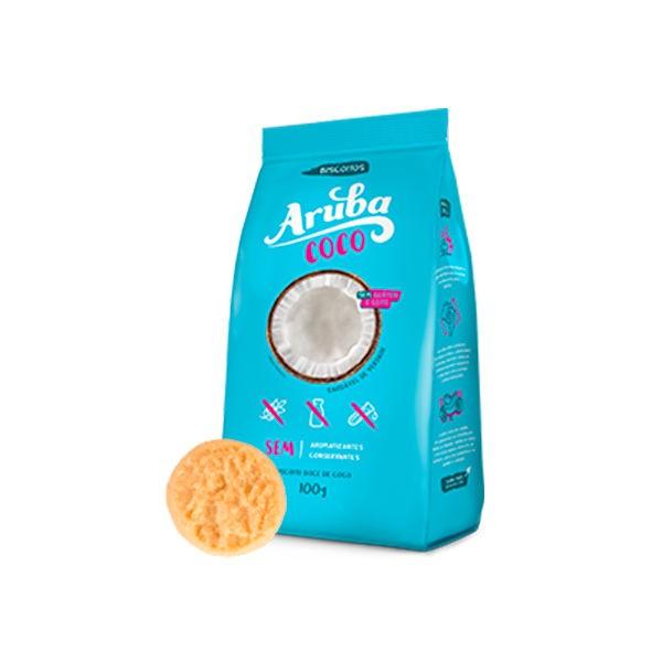 Biscoito de Coco Sem Glúten 100g - Aruba