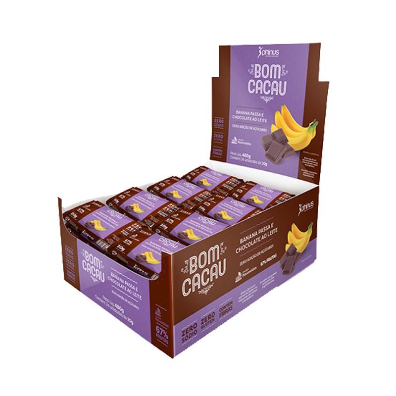 Bom Cacau Banana Passa e Chocolate ao Leite Zero Açúcar 480g - Phinus Life