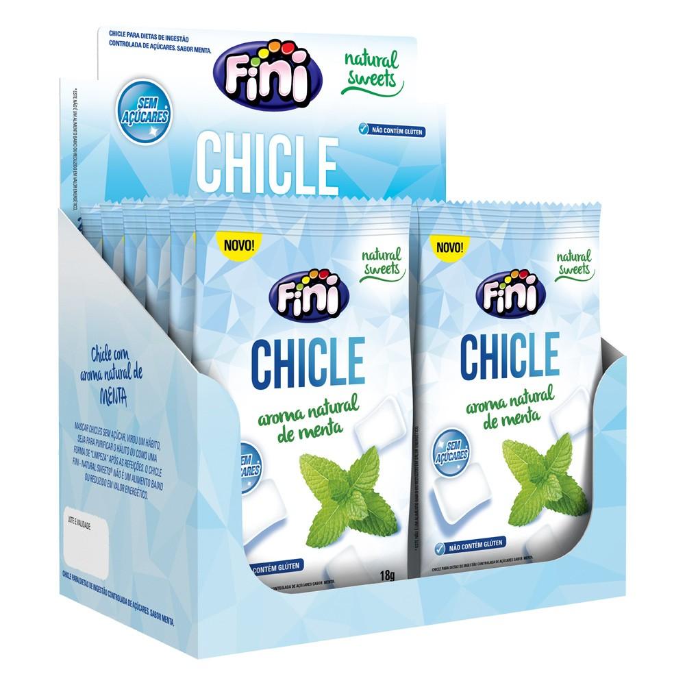 Chiclete Zero Açúcar com Xilitol 18g x 12 216g - Fini