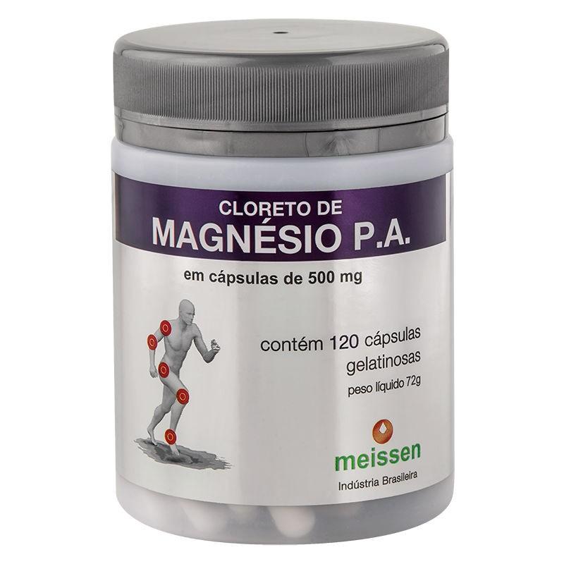 Cloreto de Magnésio P.A. 500mg 120 Cápsulas - Meissen