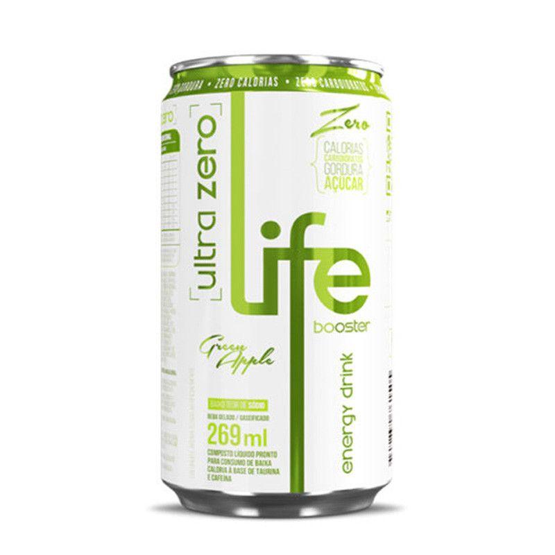 Energético  Ultra Zero, Zero Açúcar, Zero Calorias Maçã Verde - Life Booster