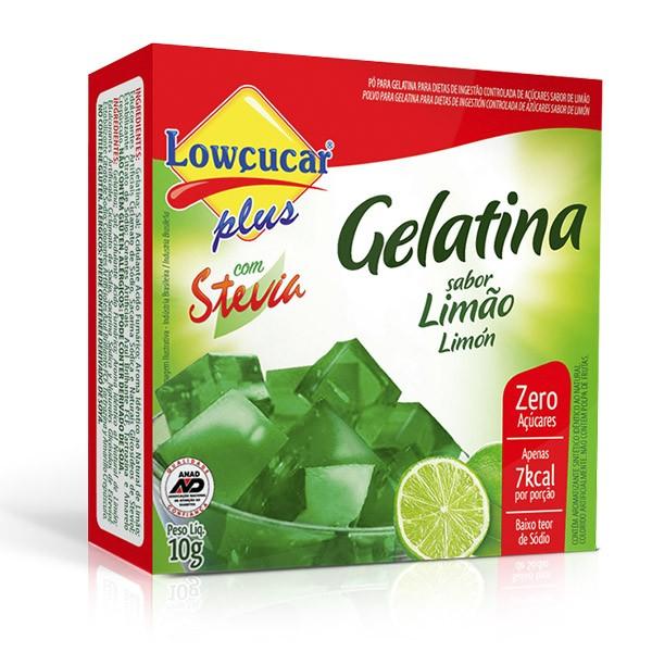 Gelatina Plus com Stevia Limão Zero Açúcar 10g - Lowçúcar