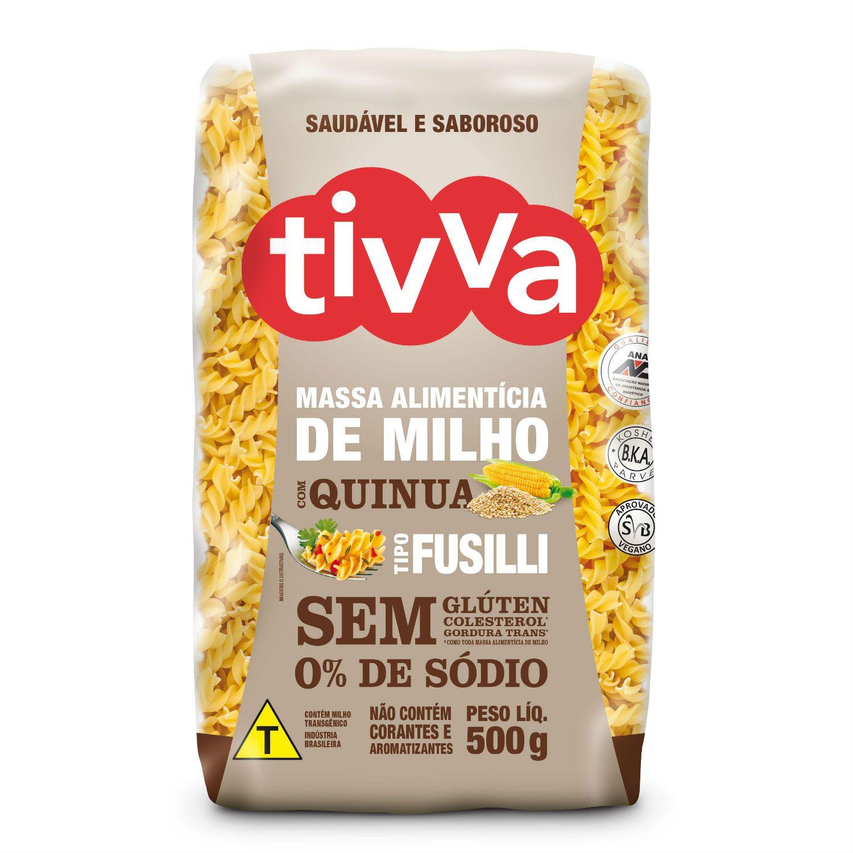 Massa Fusilli De Milho Com Quinoa Sem Glúten 500g - Tivva