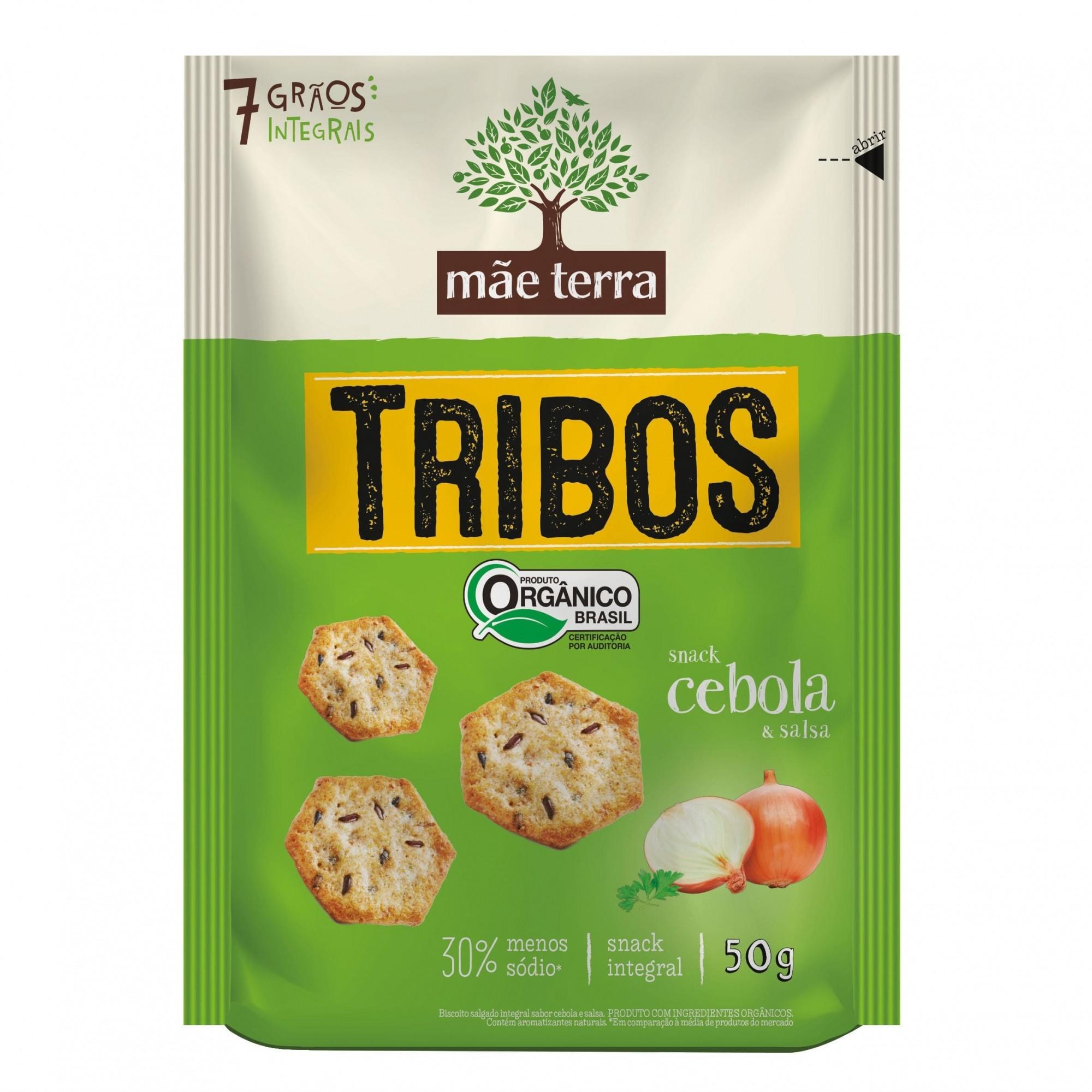 Tribos Snack Orgânico Cebola e Salsa 50g - Mãe Terra