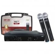 Microfone Sem Fio Duplo profissional Mxt Uhf 302
