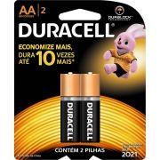 Pilha Alcalina Duracell AA Pack Com 2 Pilhas - Média