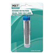 Tubo De Solda Estanho Em Fio Mxt 1mm Para Eletrônica 15gr