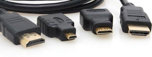 Cabo Hdmi 3 Em 1 Micro E Mini 1080p Adaptador 3 Pontas
