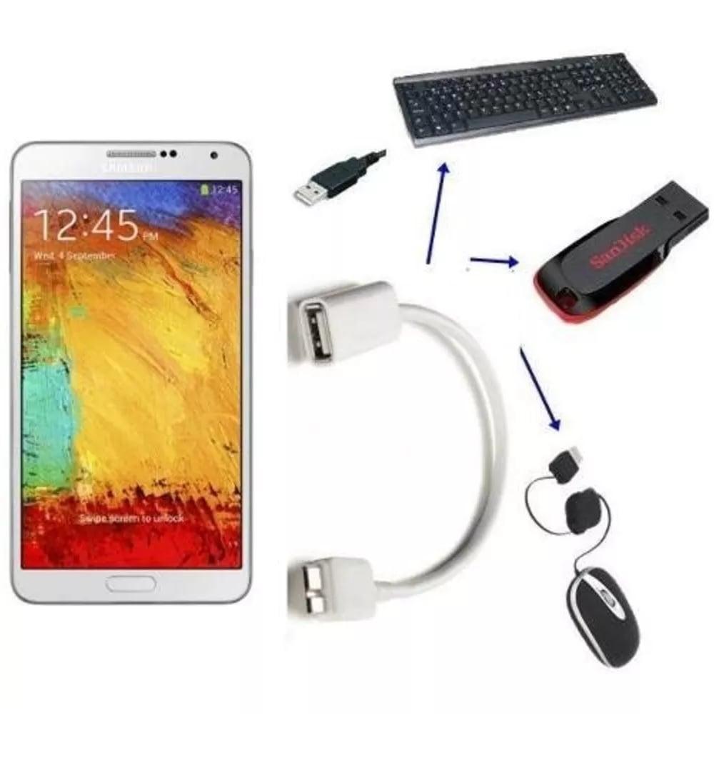 Cabo OTG p/ Note 3 S5 Thinkpad 8 USB 3.0 Macho x USB Femea