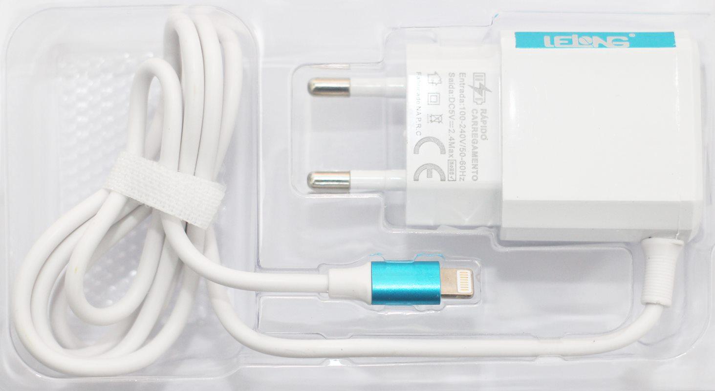 Carregador para iPhone com 2 Portas USB 100% compatível