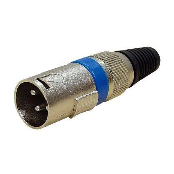 Conector Plug Canon Xlr Macho Microfone Dmx Cannon