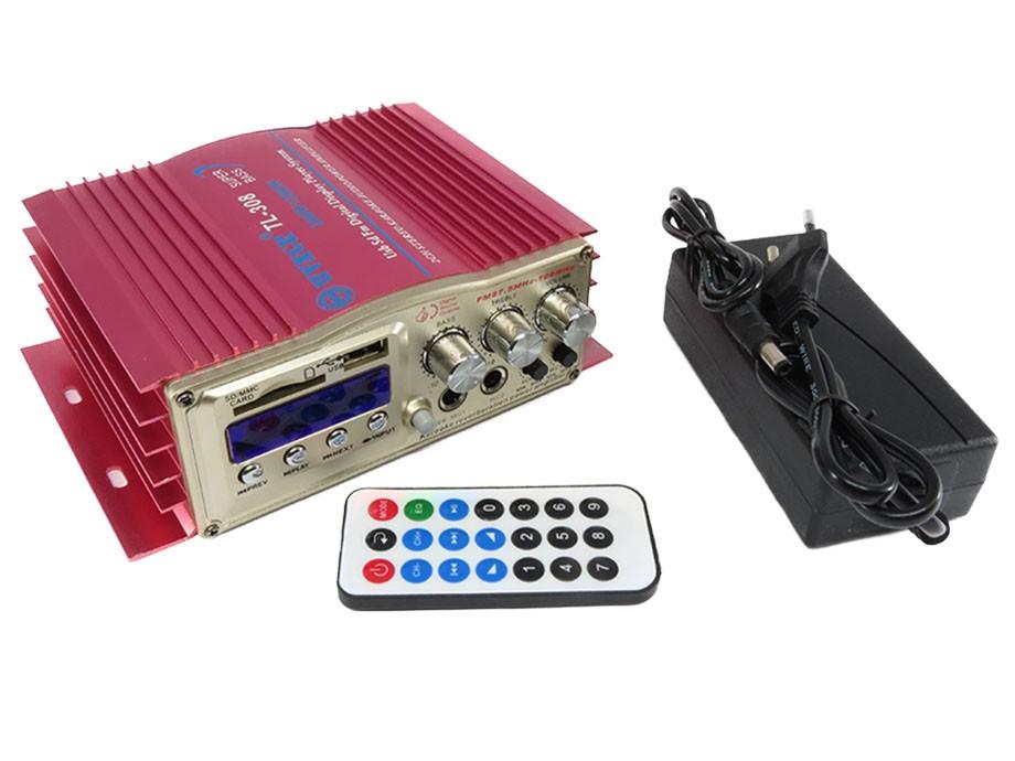 Mini Módulo Amplificador Com Karaokê 2 Canais