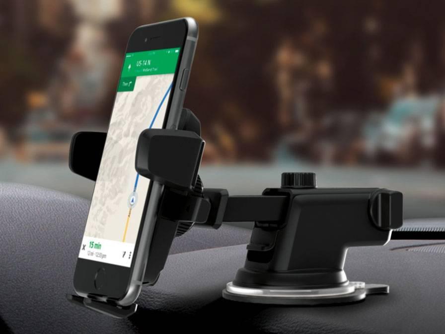 Suporte veicular para celular com trava firme premium