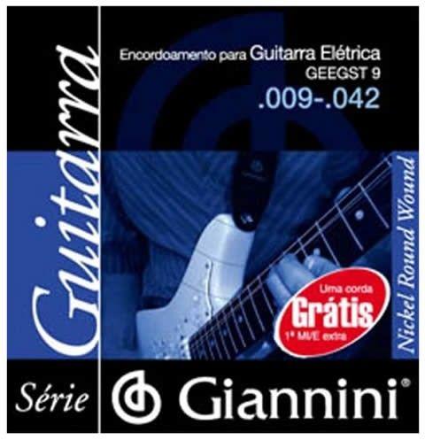 ENCORDOAMENTO PARA GUITARRA ELÉTRICA GEEGST 9 - .009-.042