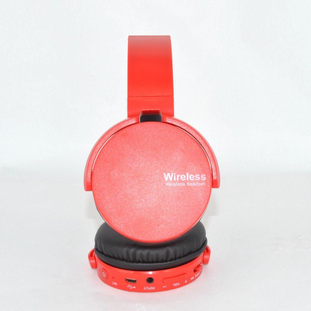 Fone De Ouvido Estéreo Sem Fio Extra Bass Bluetooth Vermelho