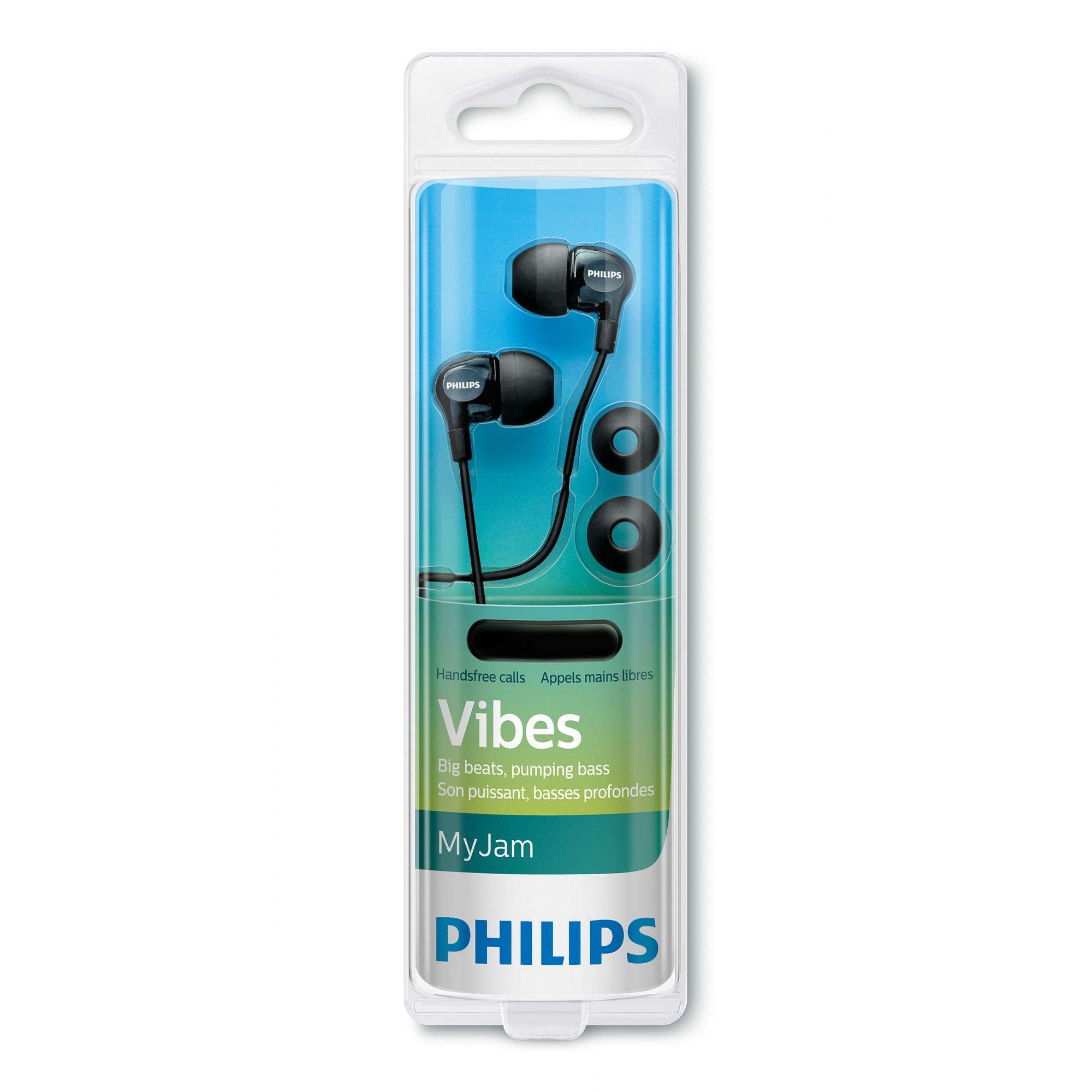 Fone de Ouvido Intra Auricular Philips Com Microfone SHE3705BK/00 Preto