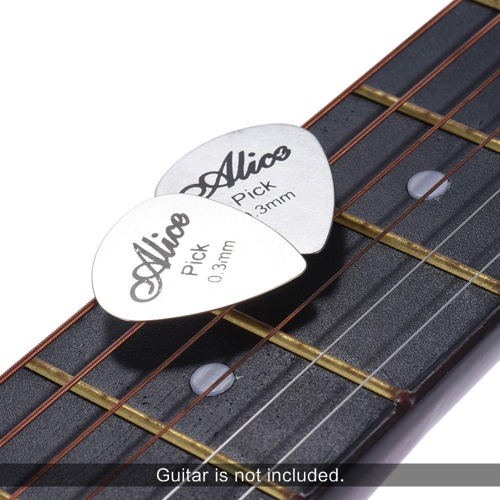 Kit 12 palhetas de aço de 0,3mm Alice