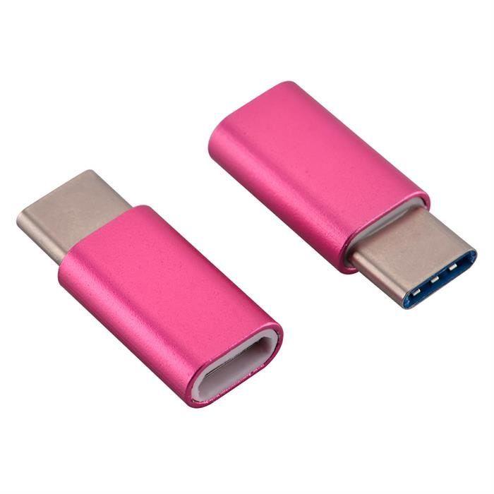 KIT 50 ADAPTADOR OTG MICRO USB PARA USB TIPO C 3.1