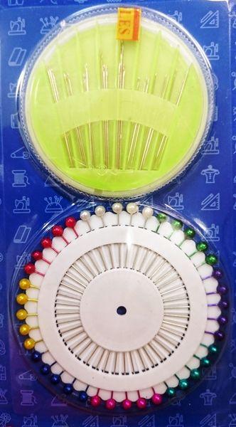 Kit costura com 24 agulhas e 40 alfinetes
