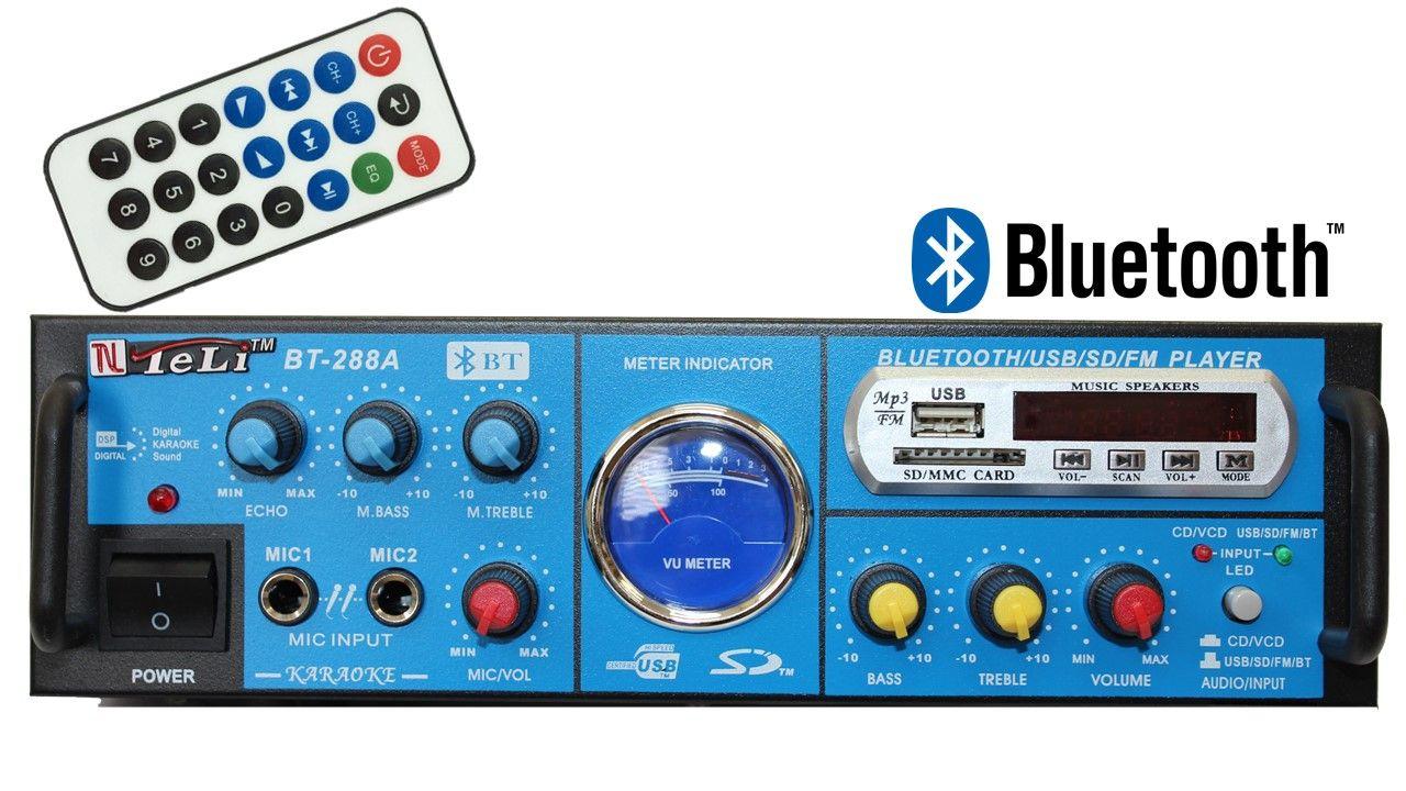 Kit de som ambiente 4 caixas Hayonik Preta 3 vias amplificador com Bluetooth kit-E5