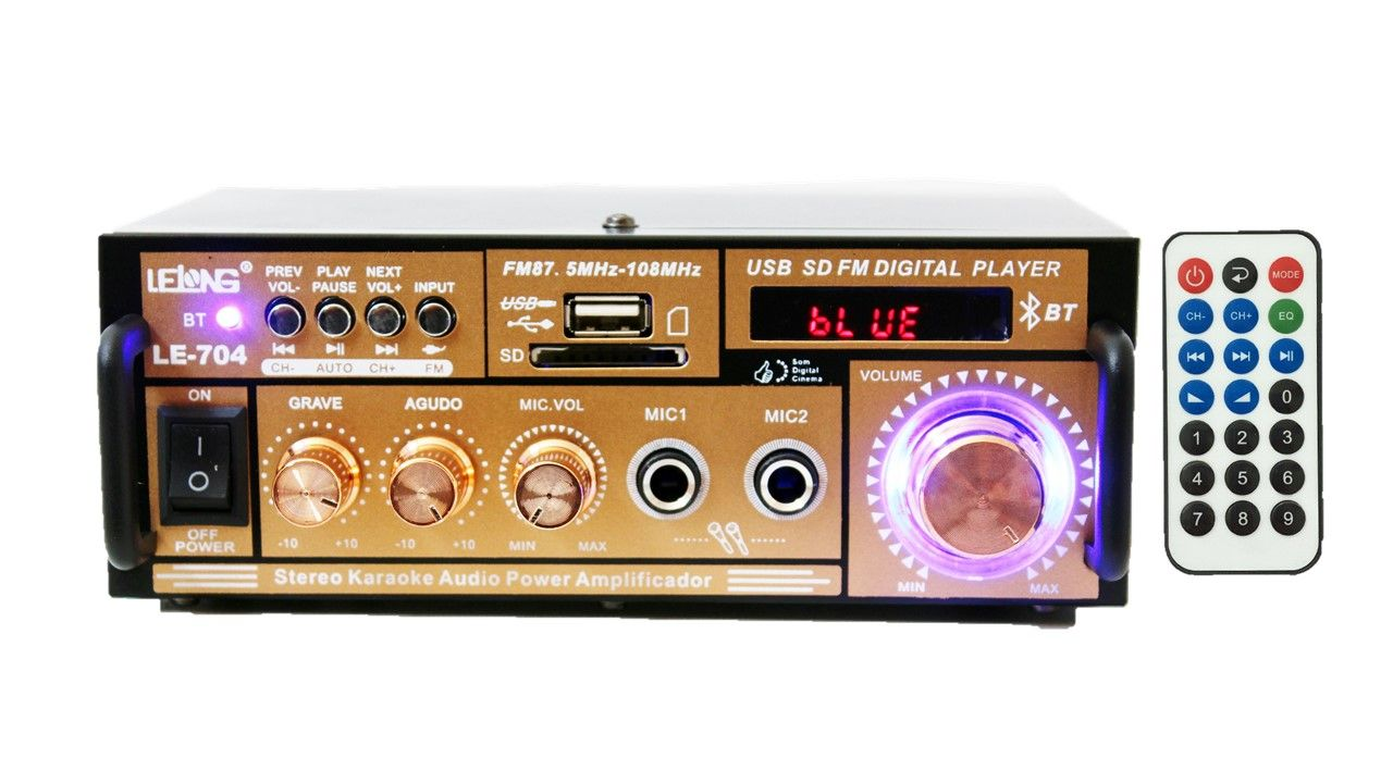 Kit de som ambiente caixas Hayonik branca 3 vias amplificador com Bluetooth kit-B3