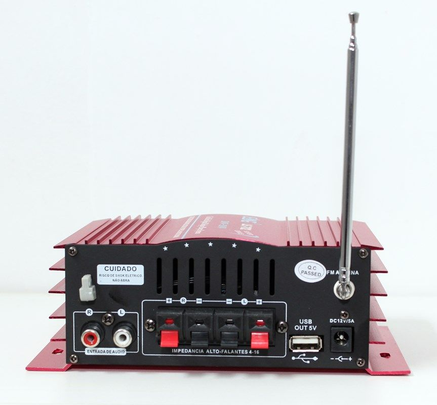 Kit de som ambiente caixas Hayonik branca 3 vias amplificador com Bluetooth kit-C3