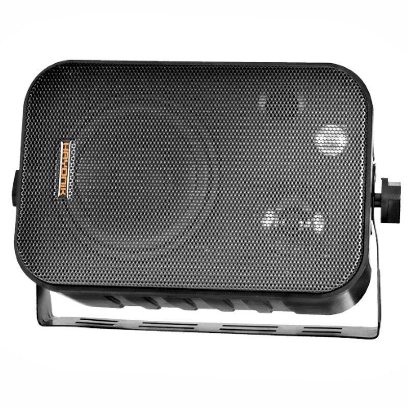 Kit de som ambiente caixas Hayonik Preta 3 vias amplificador com Bluetooth kit-A2