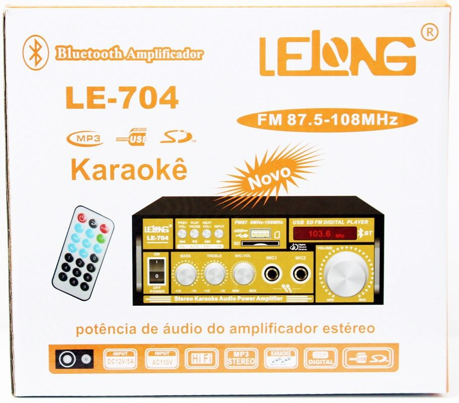 Kit de som ambiente caixas Hayonik Preta 3 vias amplificador com Bluetooth kit-B2