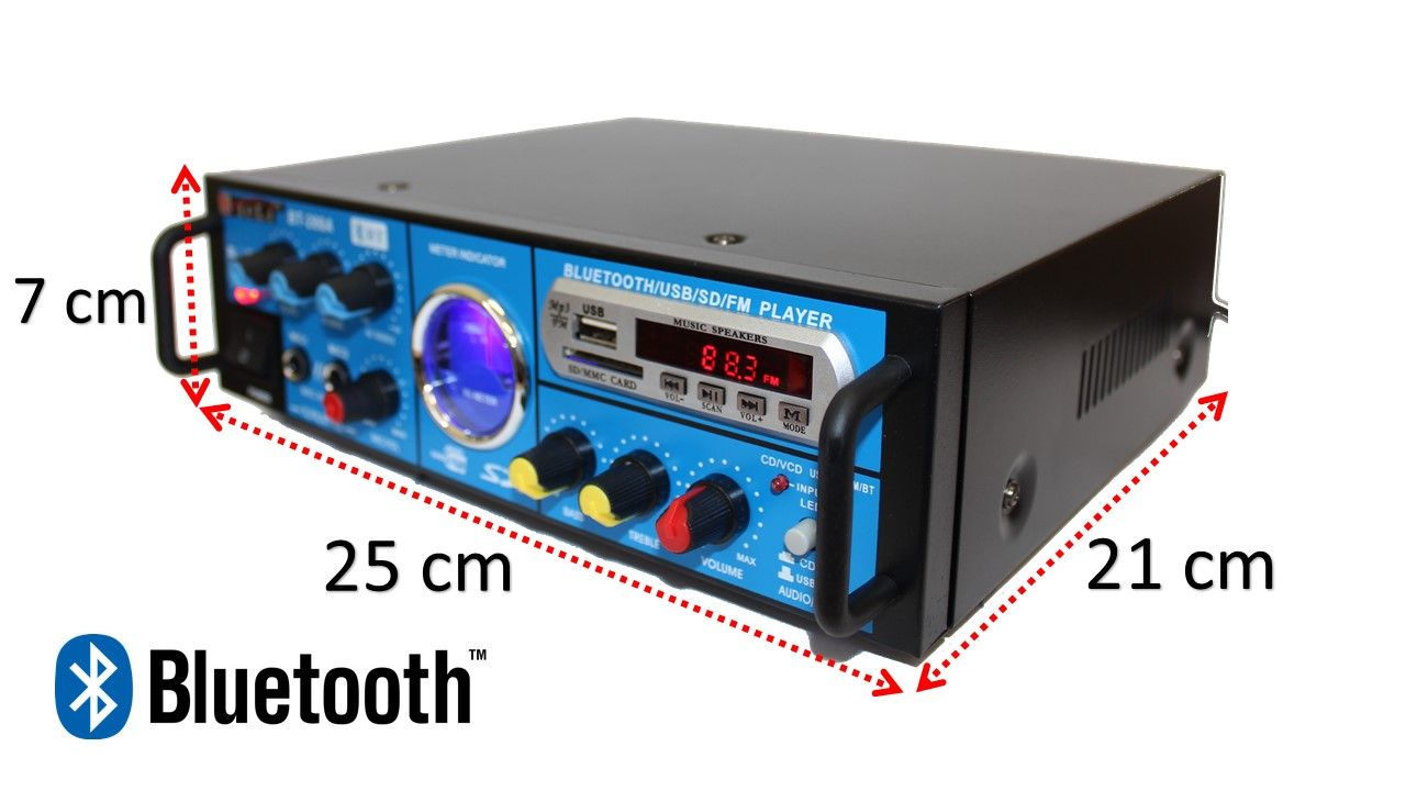 Kit de som ambiente caixas Hayonik Preta 3 vias amplificador com Bluetooth kit-E2