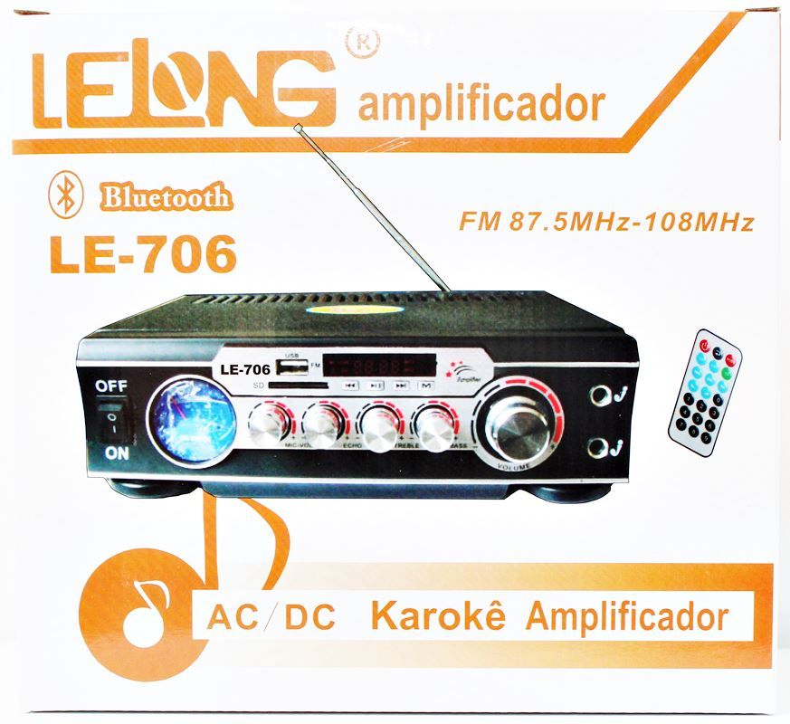 Kit de som ambiente caixas JBL amplificador com Bluetooth kit-A1