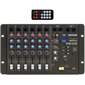 Mesa de som Cicloton Wattsom MXM6 SD 6 Canais