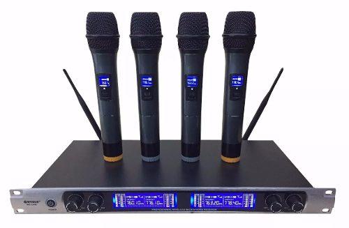 Microfone Sem Fio Profissional Quadruplo Digital