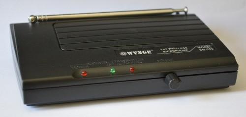Microfone sem fio VHF simples SM-200