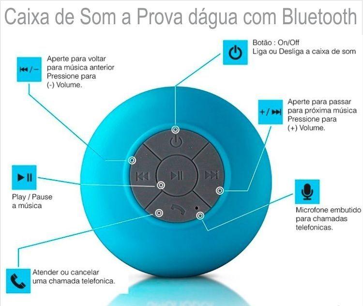 Mini Caixa De Som Bluetooth A Prova D'Agua - BRANCA