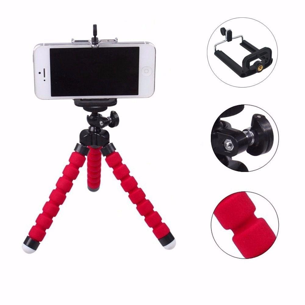 Mini Tripé Universal Flexível Suporte Celular Câmeras