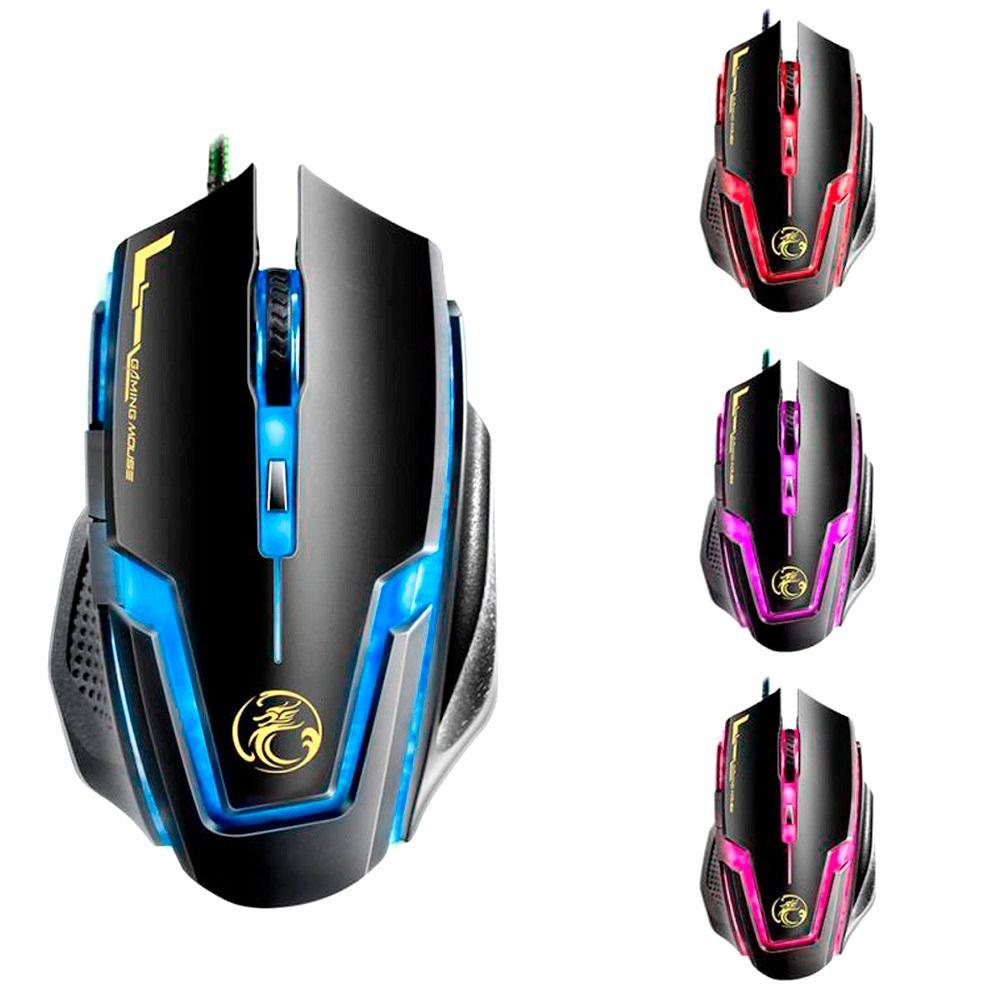 Mouse Gamer 3200 Dpi 7 Botões Profissional B-max A9 Gaming